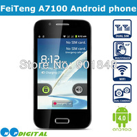 Original FeiTeng A7100(N7100) Smart Android Mobile phone 4inch Capacitive Screen SP6820A 1GHZ Android4.0 Wifi Russian Black