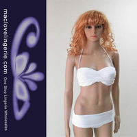Free Shipping!! ML37053 2013 New Arrival Swimsuit White Color Top Brand Cup Strap Beach Wear Push Up Swimming Suit