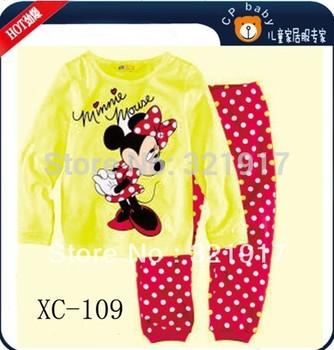 Latest Style 6 Sets/Lot Baby Kids Pajamas Gilrs Clothes Set Children Sleepwear 2-7 years baby set