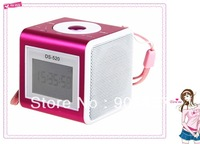 DS-520 Mini LCD USB FM Radio Music Player Stereo Speaker Support  TF Card with Remote Control free shipping