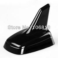 1 pc Euro Style Universal Custom Decorative Mirror Polish Black Roof Top Shark Fin Antenna 3M Stick On Trimming Trim Car