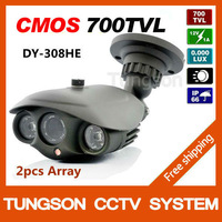2013 Most Popular 700TVL Outdoor Waterproof Video Surveillance Night Vision Color IR Array LED Home Security CCTV Camera