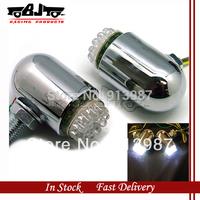 BJ-SL-004 White 12V FogLight 24 LED Motorcycle Running Light For Harley Honda Suzuki chrome plated