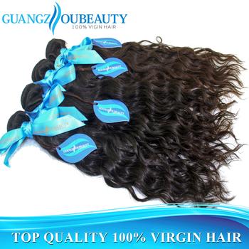 water wave unprocessed Brazilian virgin human natural wavy hair weave