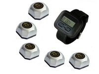 wireless waiter service calling system,for pub,video service,cinema and so on, 5 buttons and one watch