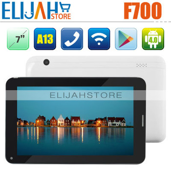 Allwinner A13 3G Tablet PC with phone call F700 7 inch capacitive screen 512MB RAM 8GB ROM flash Dual Camera Wifi SIM WCDMA GSM