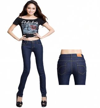 [TC Jeans]2013 discount skinny jeans for women long tans trousers pencil pants elastic plus size jeans female mid waist jeans