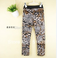 Free Shipping,Autumn and winter 2014 plus velvet thickening child legging female child skinny pants Thick pants TZ08A01