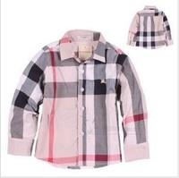 Free shipping plaid oem boys full sleeve cotton spring 2014 brand children boys shirts roupa infantil