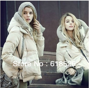 free shipping ! women's with a hood scarf down coat Autumn and winter thin Women down jackets  outerwear
