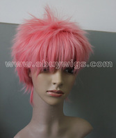 Fairy Tail-Natsu Dragneel Cosplay Wig cheap pink short wigs