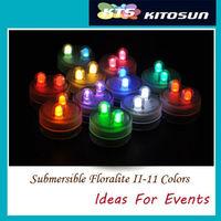 100pcs/lot Multi color Wedding Decoration tea lights Dual LED Submersible Floralyte lights