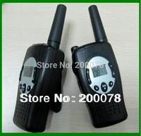 New kids wind-up walkie talkies radios crank dynamo portable mobile talkie walkie radio pair interphone PMR/FRS +flashlight