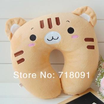 32x32CM,2PCS/LOT,Plush And Stuffed Toy Bear Neck Pillow,U Cushion,Drop Free Shipping