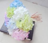 wholesale 30PCS 4 colors mini guelder hydrangea artificial simulate silk fabric flower  home decoration flowers