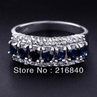 Gem Beautiful Natural Sapphire Ring In 925 Sterling Silver jewelry Woman Fashion Elegant Handmade Birthstone Gift SR0154