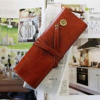 2pcs/lot Retro pencil pouch, pen bag/pen case,make up cosmetic bag,  twilight leather  pencil case Free shipping