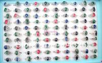 wholesale 100p Fashion Jewelry Charm Lots imitate Titanium silver rings mix size jewelry