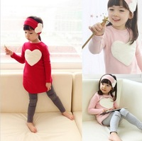 Free shipping,5 sets/lot children clothing set,girl wear,kid's wear,3 pcs:headband+stirt+pants,2 color hot sale in store GQ-013
