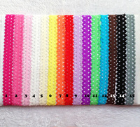 Free Shipping Wholesale 100pcs/lot  elastic hair accessory headband Baby lace flexible Satin Stretchy 14Colors