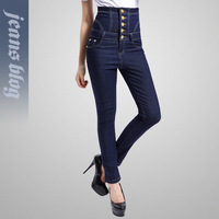 2013 New Arrival winter pants high waist denim jeans  pencil jeans high waist pants wide jeans woman big size trousers KD901#
