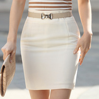 2014 Spring Summer Women's Knitt  High Waist Bust Skirt Plus Size XXL Fashion Slim Hip Above Knee Pencil Skirts Girls