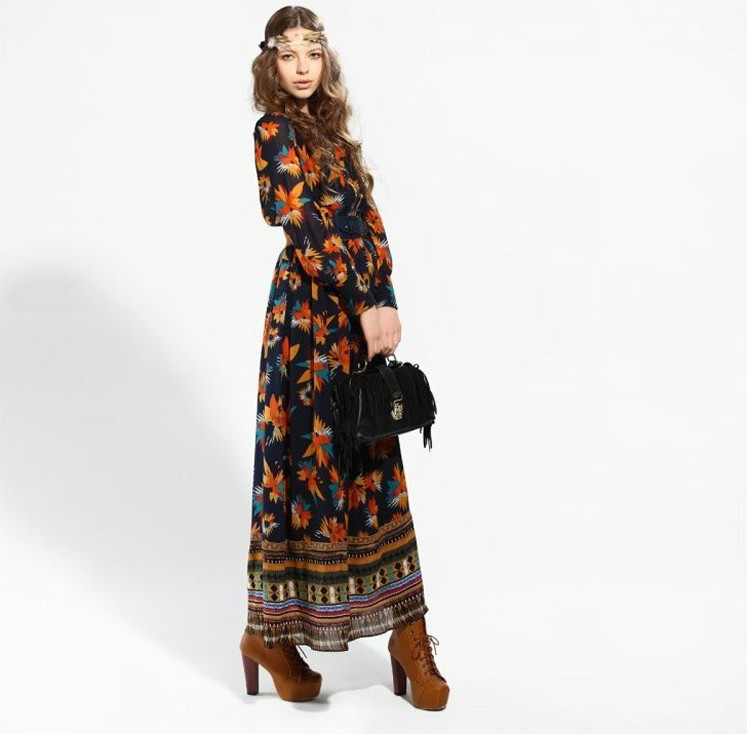 Womens Clothing Boho Maxi Dresses Boho Maxi Dress Long