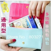 Fashion Cell Phone,Mobile Case,Wallet ,Card Clip for Iphone4S/i9220/i9100/Glaxy Note ,Handbag Women and man,Quality Wallet