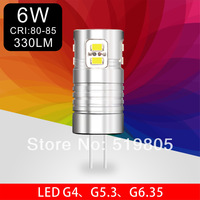 G4 G5.3 G6.35 Led 6W 110v 220v 3020 12SMD 0.5W/SMD 330LM Led Light G5.3 Bulb Lamp High Energy Saving 10pcs/lot Free shipping