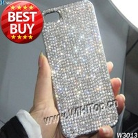 1Pcs Only! For iPhone 4 4S Luxury Diamond Rhinestone Cover Top Quality Diamond Bling Chrome Hard Case Skin Free Shipping