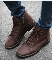 Free/Drop Shipping (1pairs)Spring New Cowboy Ankle Boots High Heel Boots British Style Male Boots Elevator Shoes For Men 721