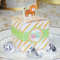 Free shipping  animal theme wedding gift boxes , baby newborn packaging paper gift box, 200pcs/lot