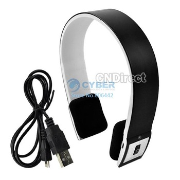 New Headset for iPhone/ iPad2/laptop/PS3 Bluetooth 2ch Stereo Audio Headset Headphone with Microphone Free Shipping TK0015