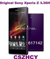 Original Sony Xperia Z L36h Unlocked Smart Mobile phone Quad Core WIFI  2330mAh DHL EMS Fast refurbished phone