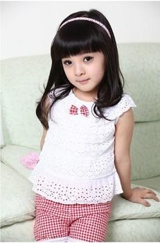 Kids Clothing Set Lace Children Girl Clothes Set  T Shirt And Lattice shorts Pants 2 Colors Infant Garment 2013 New Summer