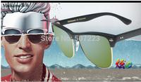 Free Shipping 2014 Half Frame Men and Womens Sunglasses Green Sunglasses 4175