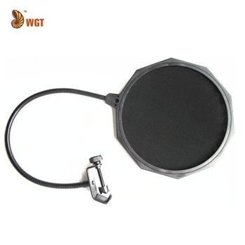 "Microphone Anti Wind Screen Mask Mesh Gooseneck Pop Filter Double Nylon Popkiller 360  Flexible Swivel 6.6"""
