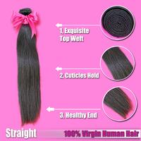 Free Shipping eva Hair 1 piece Natural Color Russsian Hair 100% Unprocessed Russian Virgin Hair Straight Human Hair Extensions