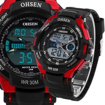 Original Brand Military Army Mens Black Digital Watch Day Date Alarm Resin Sport Wristwatch Swimming Water Proof