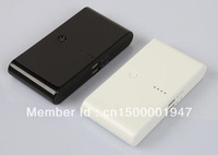 Free Shippig Black And White 30000 mah 2 USB Power Bank External Battery Charger for digtal products