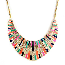 Fashion Alloy Top selling colorful enamel bib statement collar necklace(China (Mainland))
