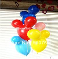 20pcs Mickey Mouse Shape Latex Balloons Animal Balloon Birthday Party Wedding Christmas Decoration Kids Toy