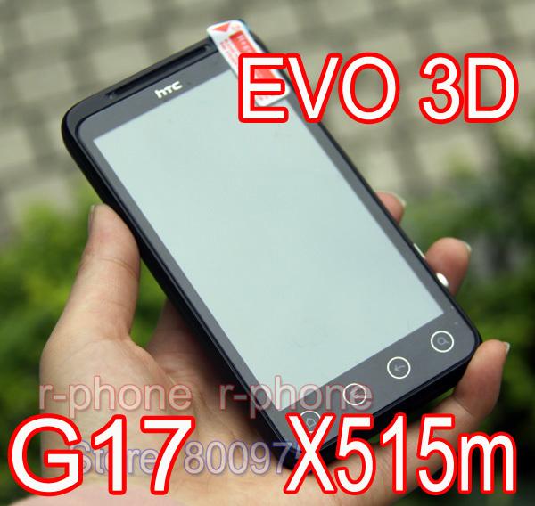 G17 Original HTC EVO 3D X515m Mobile Phone Android Smartphone Dual-core GPS WIFI 5MP 4.3'' TouchScreen EVO 3D Unlocked Phone(China (Mainland))