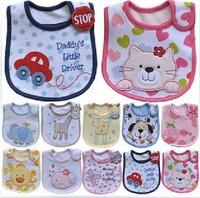 sale !sale !5pec/lot Free shipping kids bibs/baby lunch bibs/cutetowel 3layer waterproof
