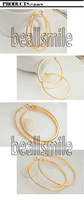 2013fashion Free shipping6cm little  platinum plated stone crystal  round hoop earrings  4 pairs/lot  hot selling!!