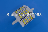Free Shipping 78mm R7S Led Lamp 5W 24pcs Led Bulb 85-265V  Energy Saving Dimmable or Non-dimmable