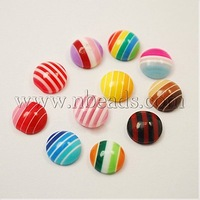 8x3.5mm Flat Round Stock Deals Resin Cabochons in Mixed Color Cabochon Wholesale