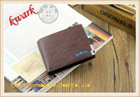 The new leisure man leather wallet purse leather stripe independent brand quality assurance free shipping
