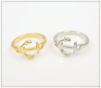 New arriva fashion jewelry anchor finger rings mix color high quality for women (mix different goods) R540