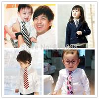 Retail Boy toddle Tie Kids Baby School Boy Necktie Neck Tie Elastic Solid Color Satin Freeshipping 1pc LD001